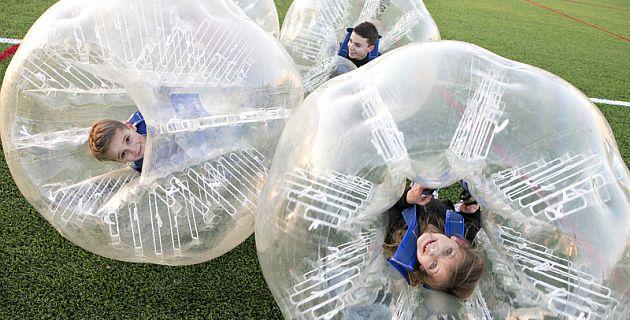 bubble soccer für kinder