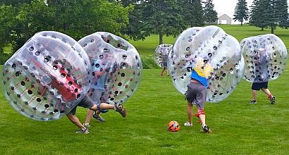 Bubble Soccer Mannschaft